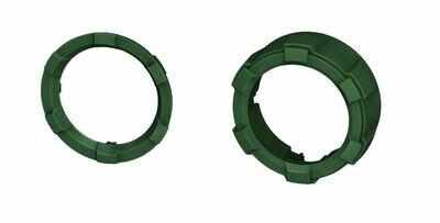 Start Button Ring + 4x4 Knob (2016+ Tacoma / 2020+ Tundra) - ARMY GREEN