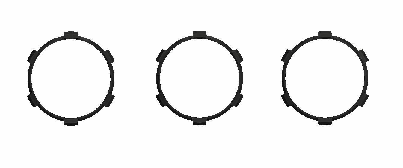 Climate Rings (2016+ Tacoma DUAL ZONE) - BLACK
