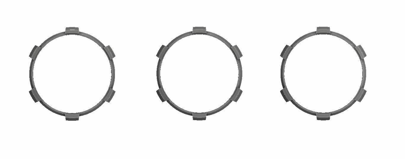 Climate Rings (2016+ Tacoma DUAL ZONE) - CEMENT