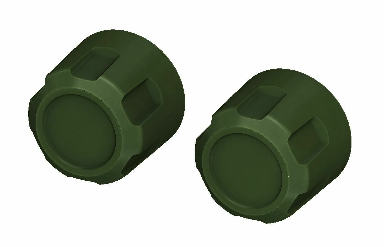 Radio Knobs (2014-2019 Tundra) - ARMY GREEN
