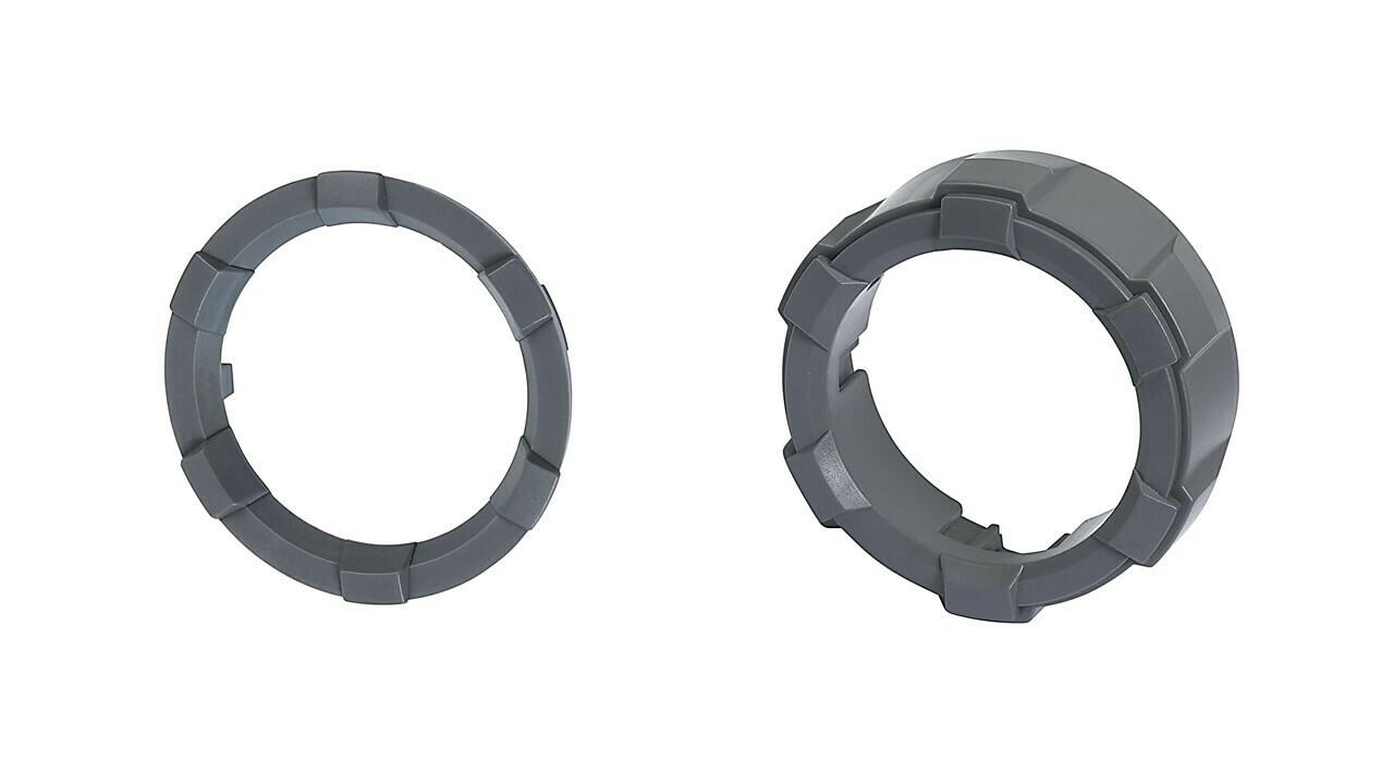 Start Button Ring + 4x4 Knob (2016+ Tacoma / 2020+ Tundra) - CEMENT