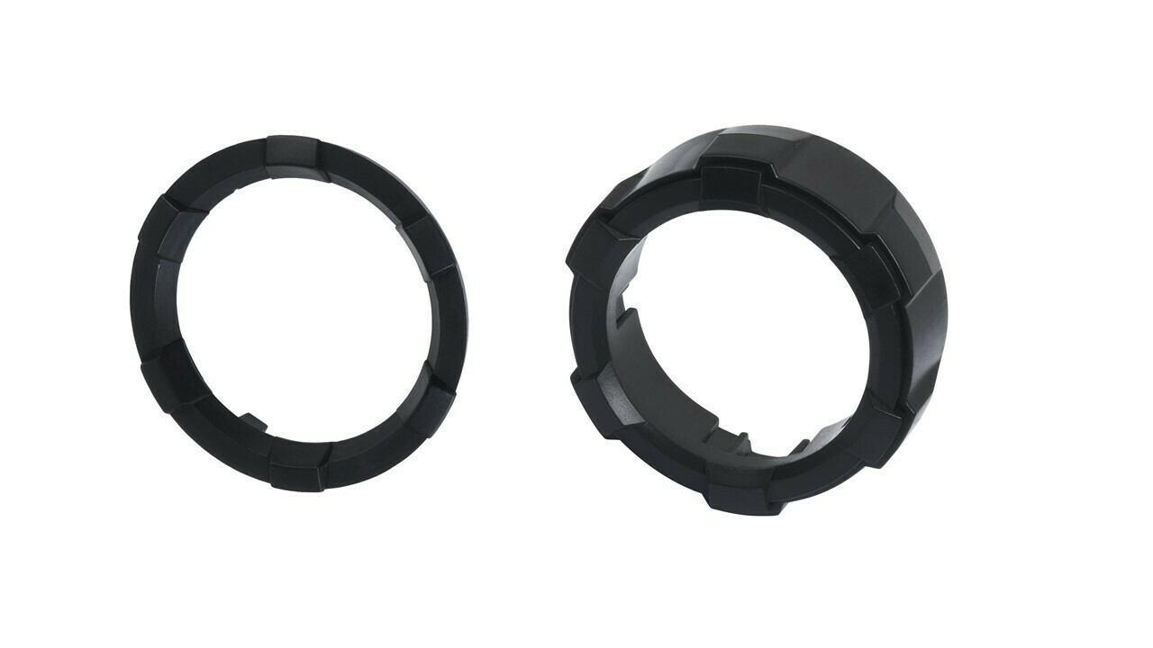 Start Button Ring + 4x4 Knob (2016+ Tacoma / 2020+ Tundra) - BLACK