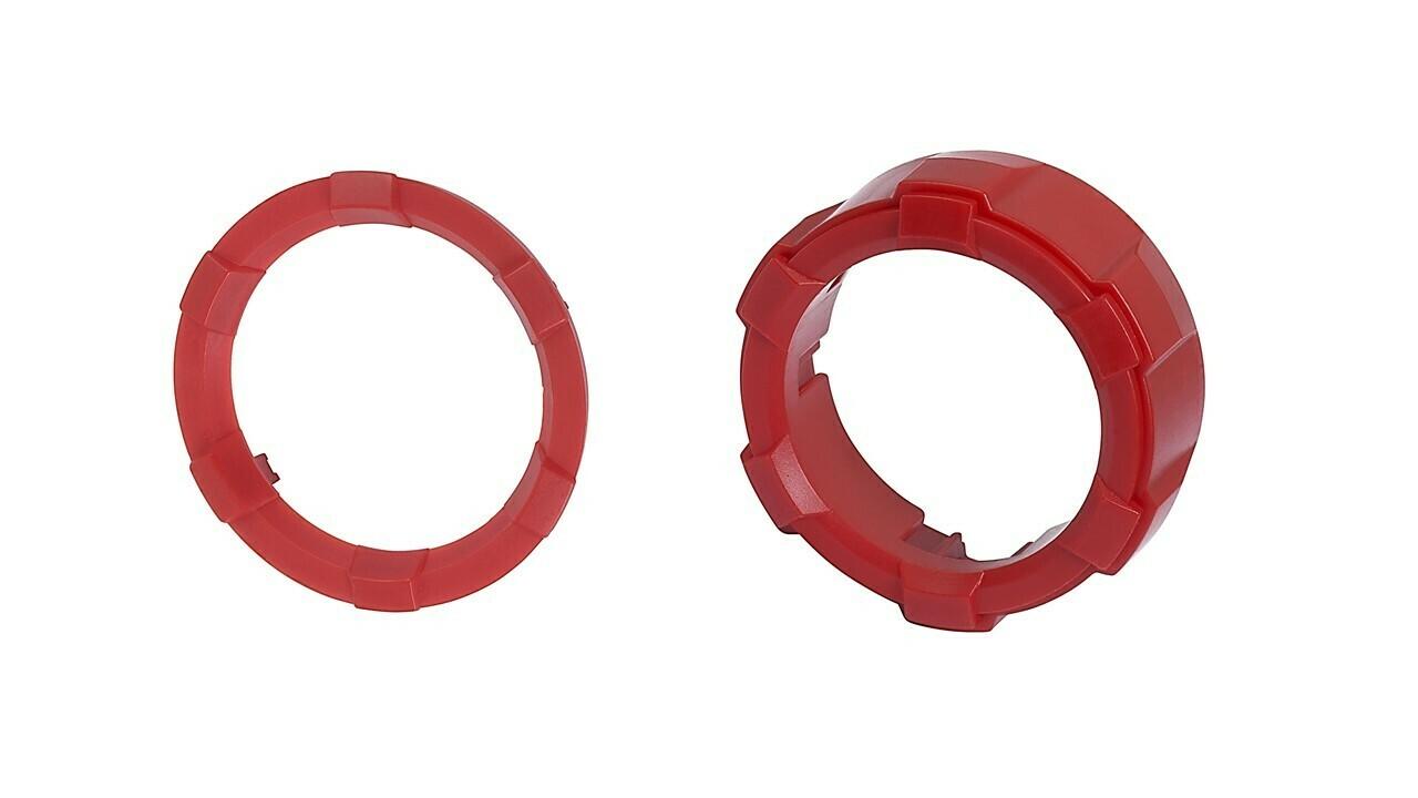 Start Button Ring + 4x4 Knob (2016+ Tacoma / 2020+ Tundra) - RED