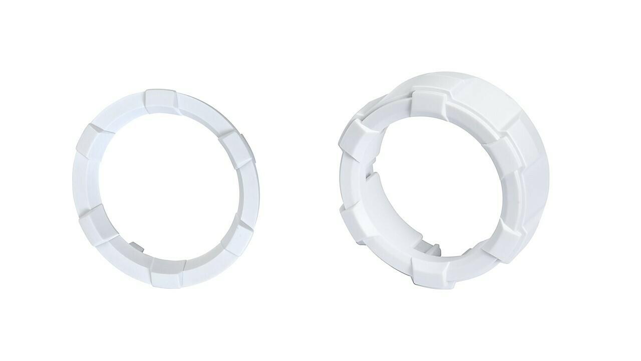 Start Button Ring + 4x4 Knob (2016+ Tacoma / 2020+ Tundra) - WHITE