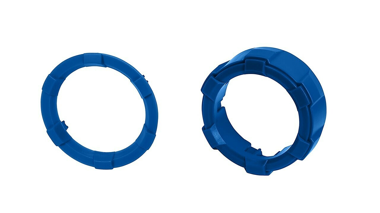 Start Button Ring + 4x4 Knob (2016+ Tacoma / 2020+ Tundra) - BLUE