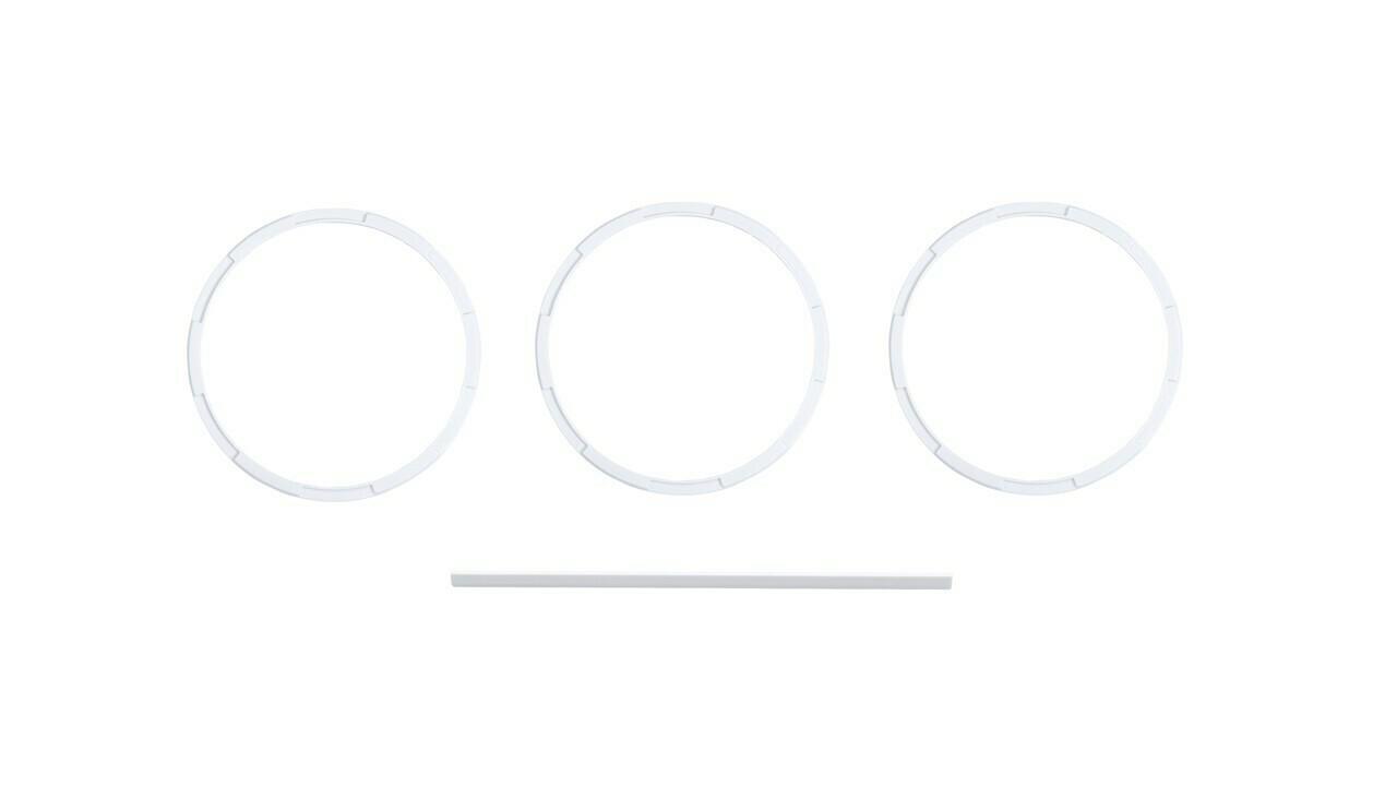 Climate Knob Trim Rings (2014+ Tundra) - WHITE