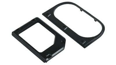 Cup Holder/Shifter Trim Rings (2014+ Tundra) - BLACK