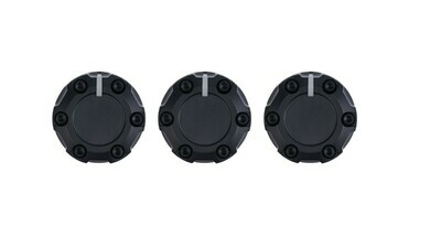 Climate Knobs (2014+ Tundra) - 3 PACK - BLACK