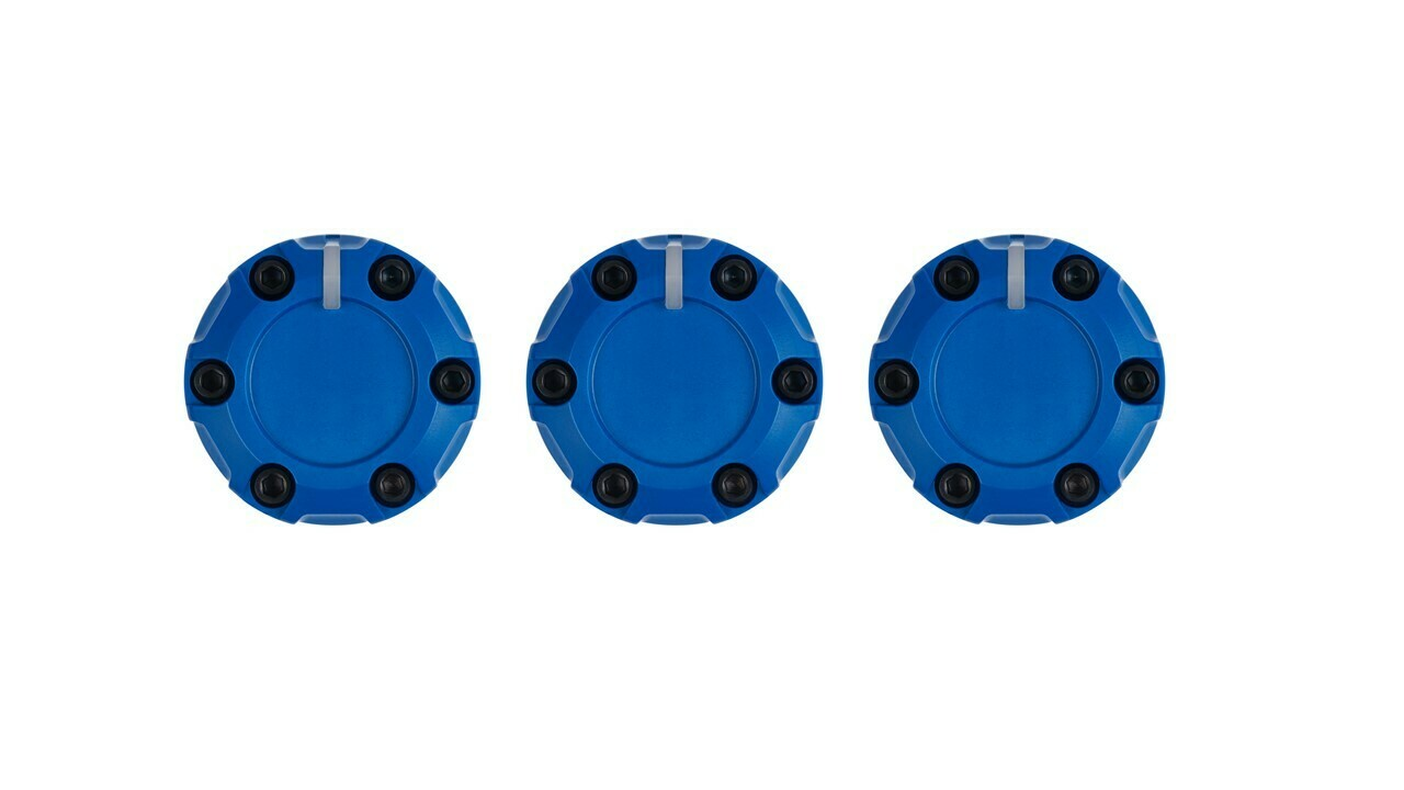 Climate Knobs (2014+ Tundra) - 3 PACK - VOODOO BLUE