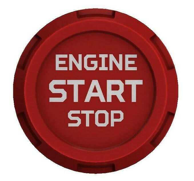 Push Start Button (2016+ Tacoma / 2020+ Tundra) - RED