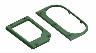 Cup Holder/Shifter Trim Rings (2014+ Tundra) - ARMY GREEN