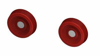 Door Buttons (C6 Corvette) - RED
