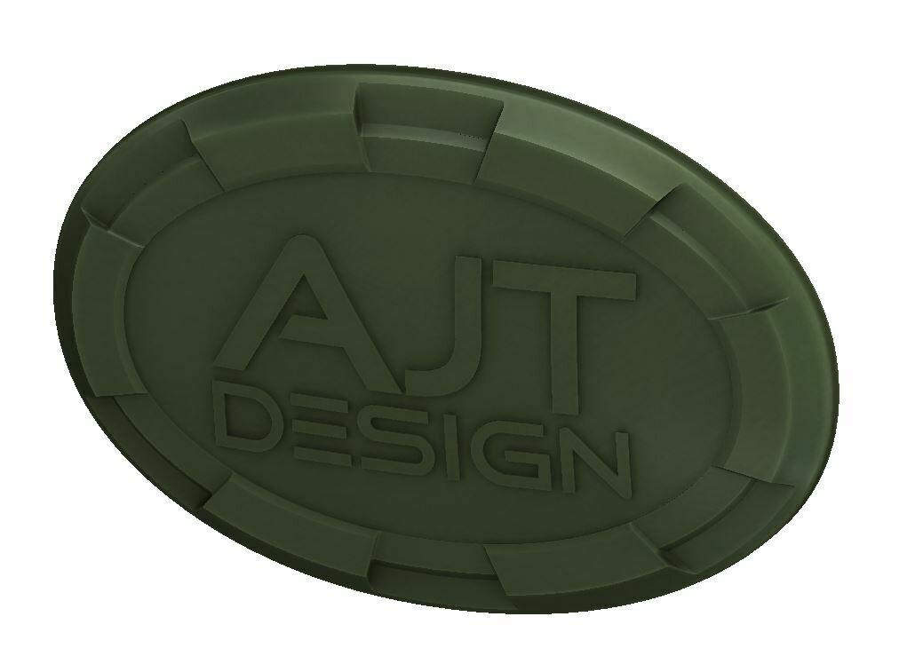 Steering Wheel Emblem Overlay (Select Toyota Models) - ARMY GREEN - AJT DESIGN - PRE ORDER