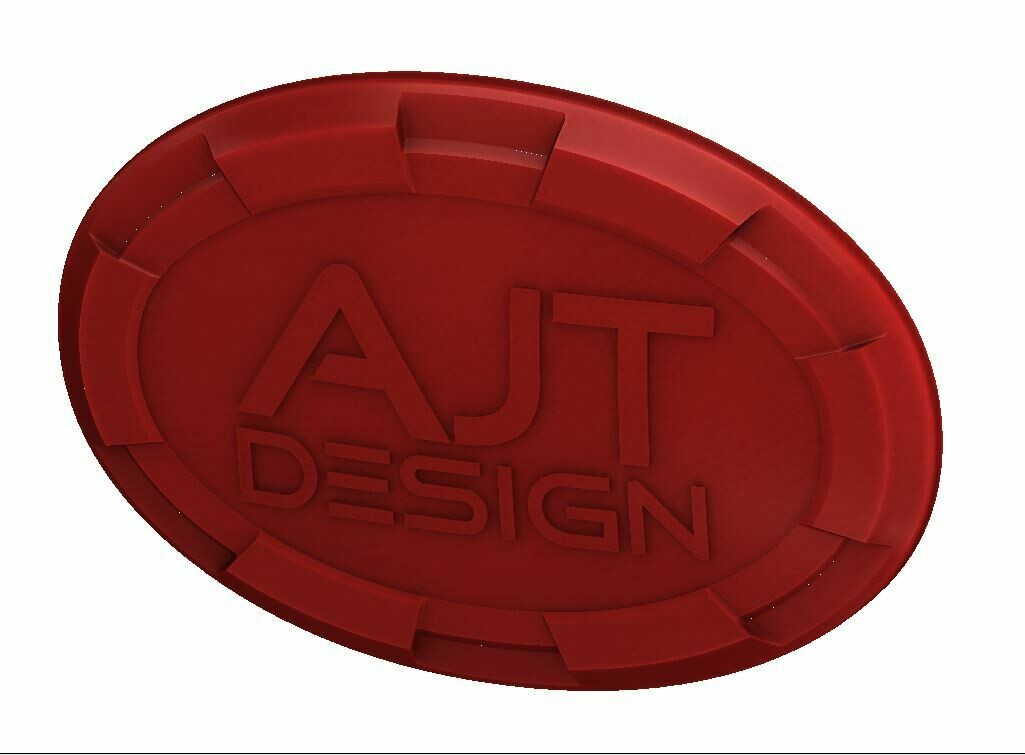 Steering Wheel Emblem Overlay (Select Toyota Models) - RED - AJT DESIGN - PRE ORDER