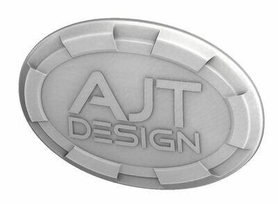 Steering Wheel Emblem Overlay (Select Toyota Models) - WHITE - AJT DESIGN - PRE ORDER
