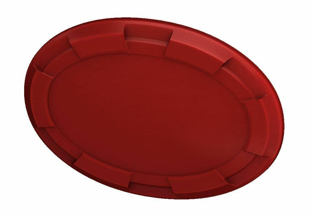 Steering Wheel Emblem Overlay (Select Toyota Models) - RED - BLANK