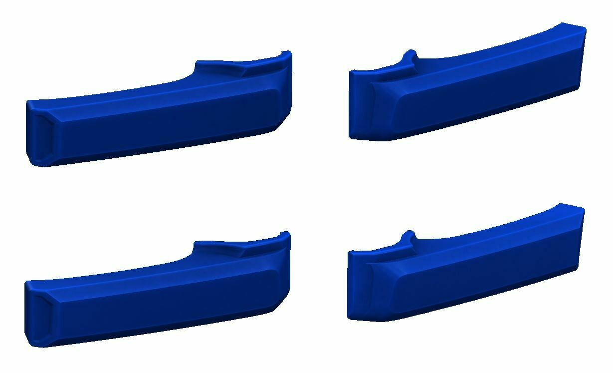 Door Handle Covers (2007+ Tundra) - VOODOO BLUE - PREORDER