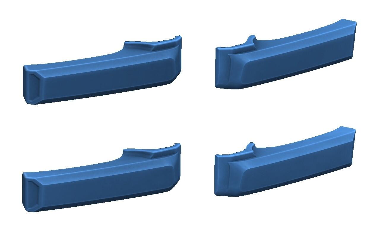 Door Handle Covers (2007+ Tundra) - CAVALRY BLUE - PREORDER