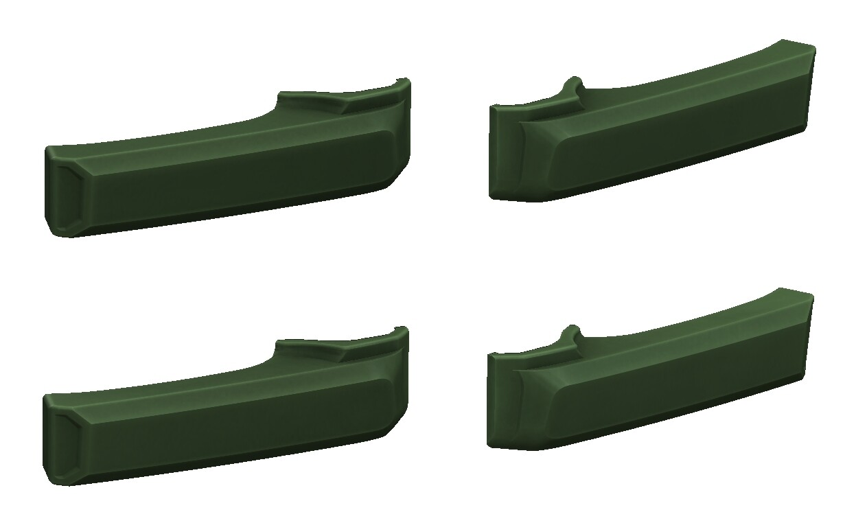 Door Handle Covers (2007+ Tundra) - ARMY GREEN - PREORDER