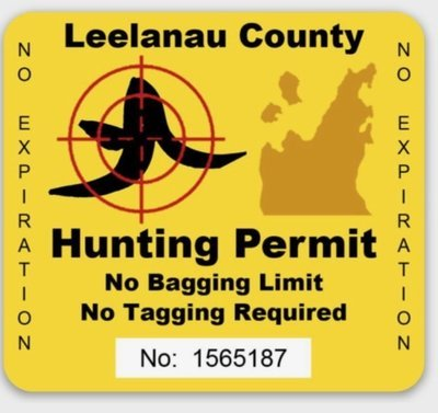 LEELANAU COUNTY HUNTING PERMIT Decal