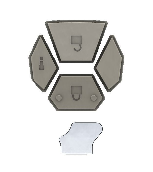 Extra Button Set - Injection Fob IF011 (5th Gen 4Runner)