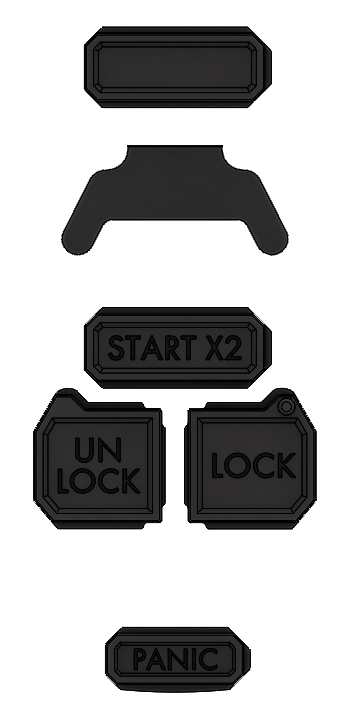 Extra Button Set - Injection Fob IF007 (Wrangler JK)