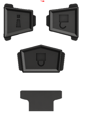 Extra Button Set - Injection Fob IF008 (2008-2014 FJ Cruiser)