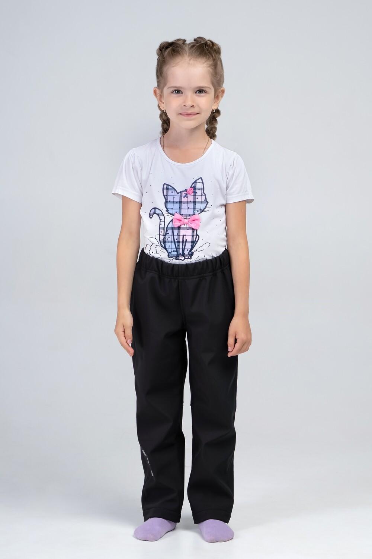 Водоотталкивающие брюки Softshell чёрные Smail