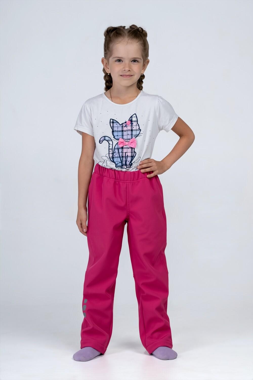 Водоотталкивающие брюки Softshell розовые Smail