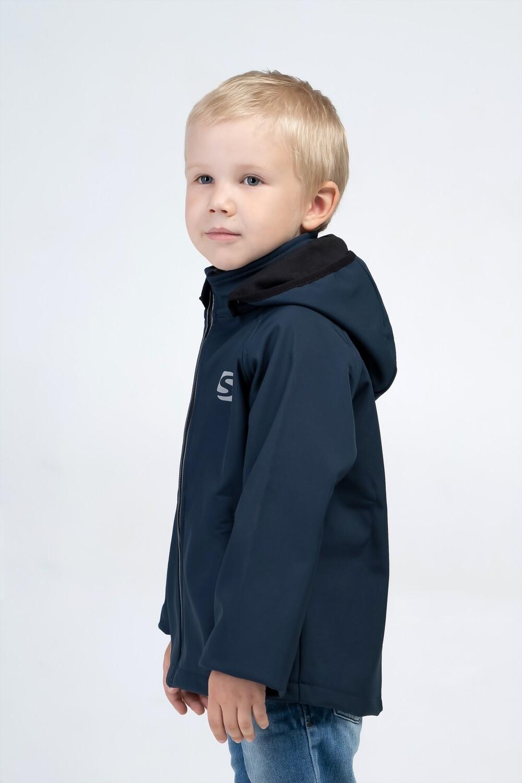Водоотталкивающая куртка для мальчика Smail Softshell синяя