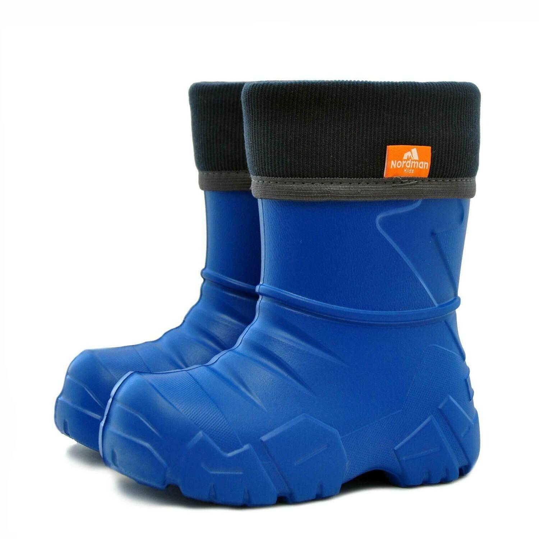 Сапоги Nordman Kids с флисовым утеплителем (синие)