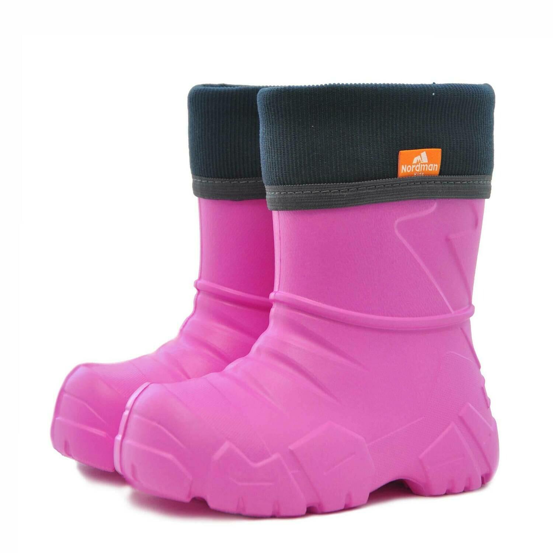 Сапоги Nordman Kids с флисовым утеплителем (розовые)