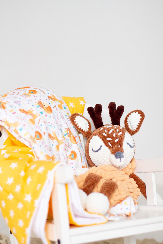 Пижамница «Олененок» коричневый