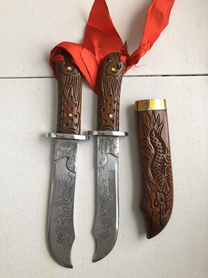 Engraved Vovinam Double Knives (Hans Made)