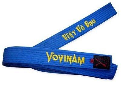 Dark Blue Vovinam embroidered belt
