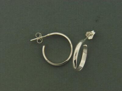 Small 1/2 round Hoop Earrings