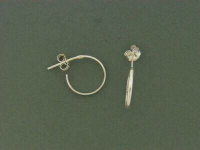x small 1/2 round Hoop Earrings