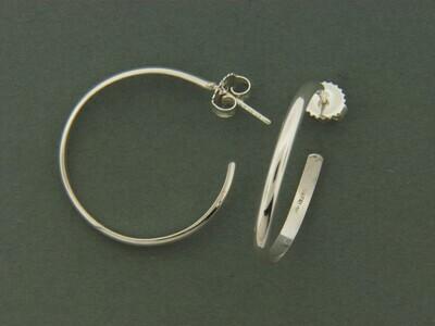 Medium 1/2 round Hoop Earrings