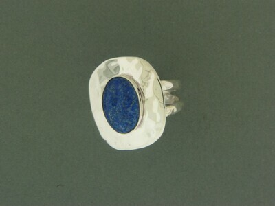 Dbl Band Plate /Stone Ring