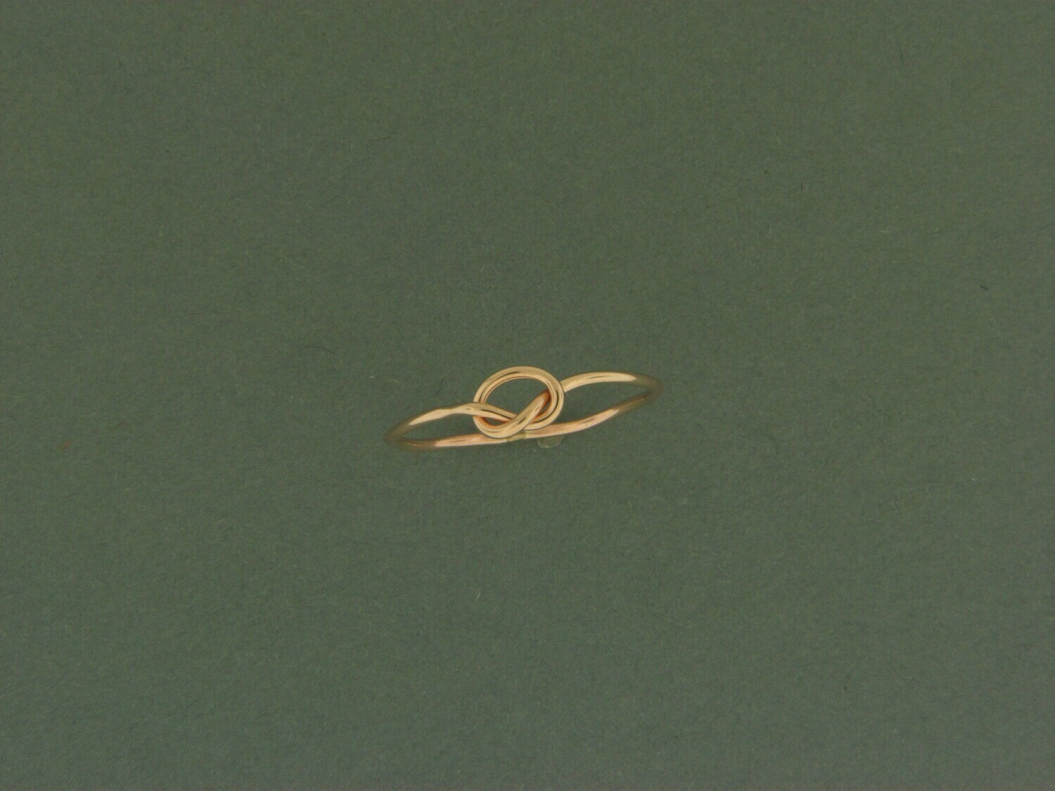 Gold filled Knot Skinny Ring