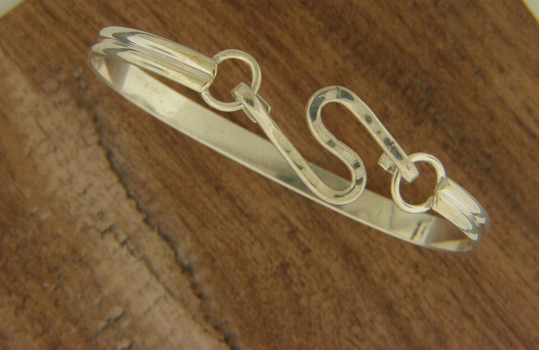 Double Band w/SS zig zag Hook Bracelet