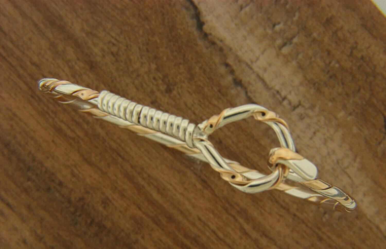 Sterling Silver/ Gold Filled Twist Hook Bracelet