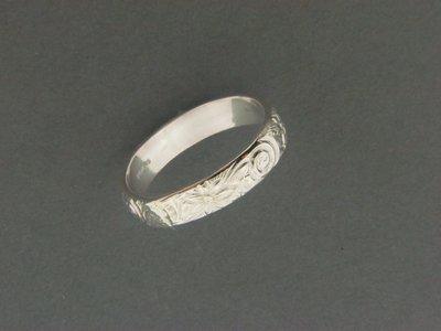 Swirl Print Ring