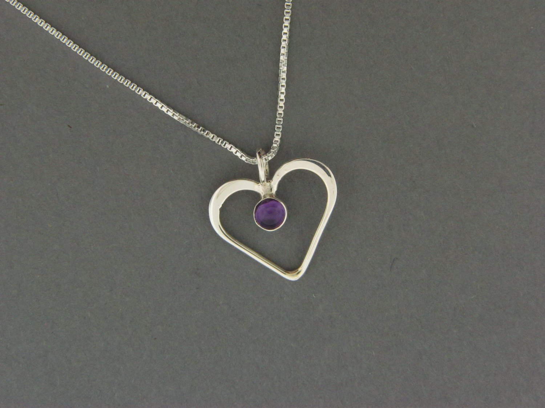 Small Heart w/Stone Pendant