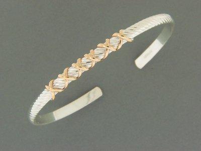 Snake Cuff w/GF Wrap Bracelet
