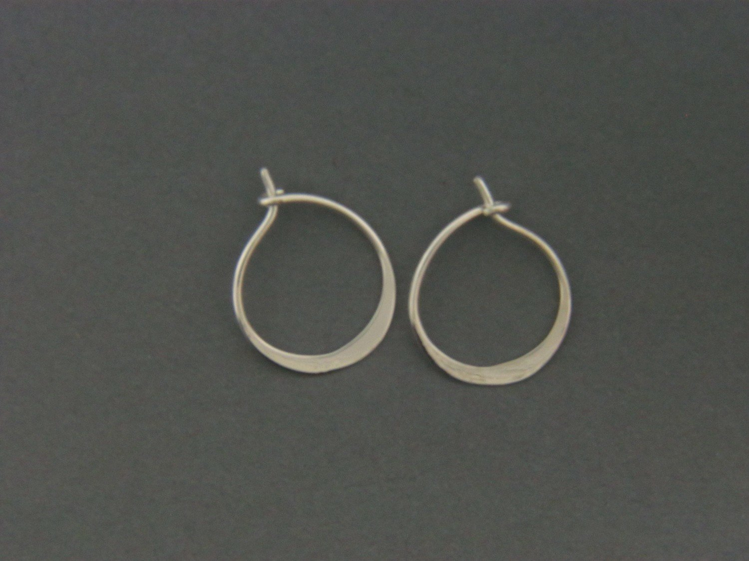 Small Hoop Hammered