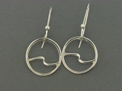Circle w/Wave FH Earrings