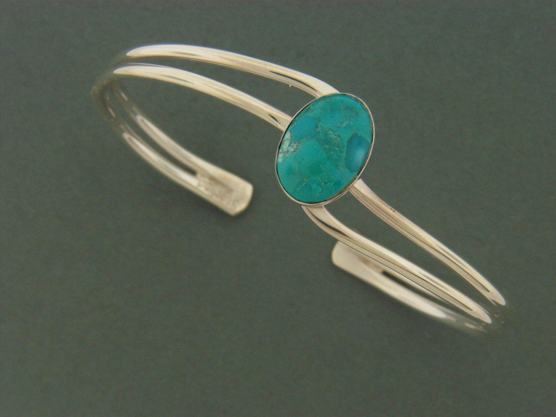 Double Wave  w/Stone Bracelet