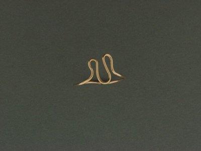 Gold Filled Zig Zag Skinny Ring