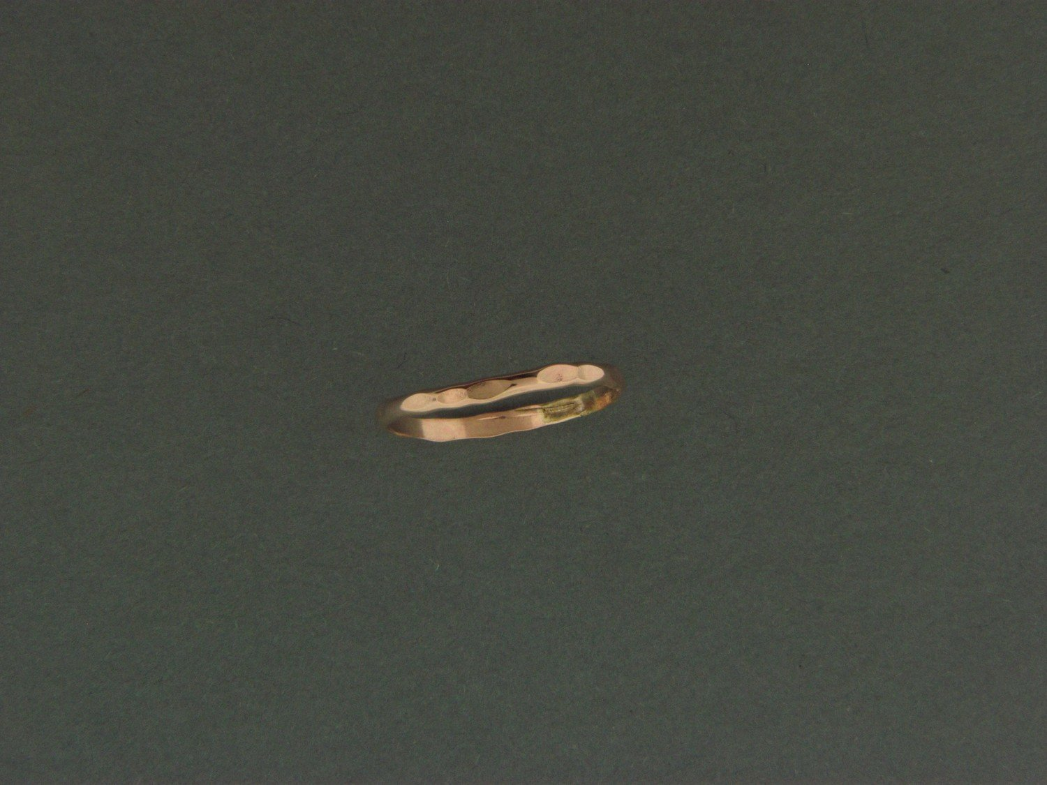 Gold Filled 1/2 Round Hammered Skinny Ring